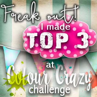 2 x Colour Crazy Craft Challenge Top 3