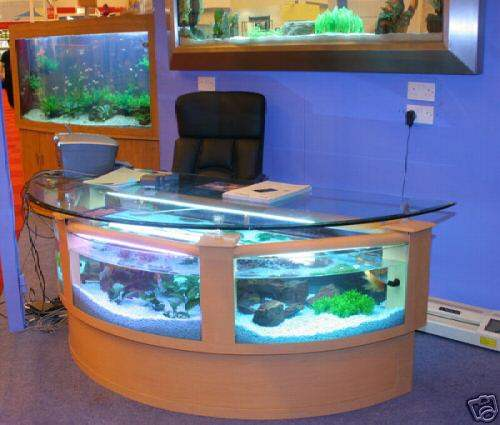 Fish Tank Office Table