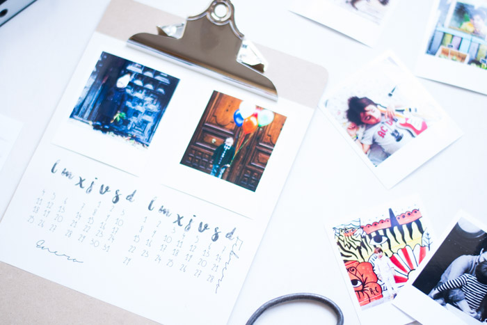 Calendario diy mini con fotos