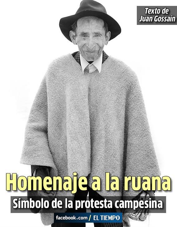 La ruana es al campesino boyacense lo que el sombrero vueltiao es a los de  Sucre y Córdoba. Han pasado casi treinta años 1b046631fb5