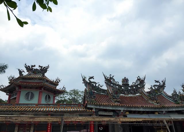roofline of Huiji Temple, Zhishan Taipei