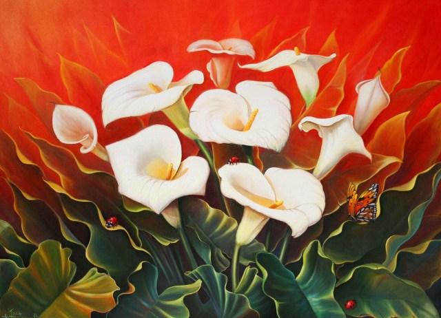 Pinturas & Cuadros: Cuadros al óleo de flores