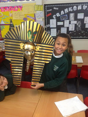 Class 4d march 2013 for King tut mask template