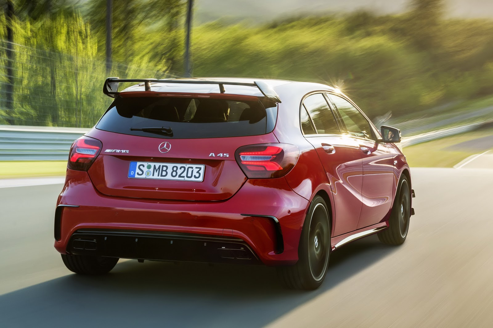 2016 mercedes amg a45 regains title of most powerful and fastest hot hatch from rs3 carscoops. Black Bedroom Furniture Sets. Home Design Ideas