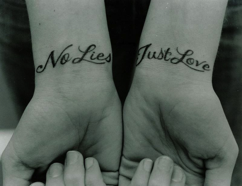 wrists with tattoos no lies just love
