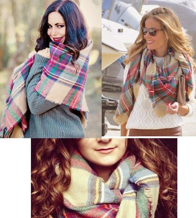 ¿Recordáis la famosa bufanda manta de zara que salio el año pasado, esta de cuadros, que el año pasado tenía todo el mundo?