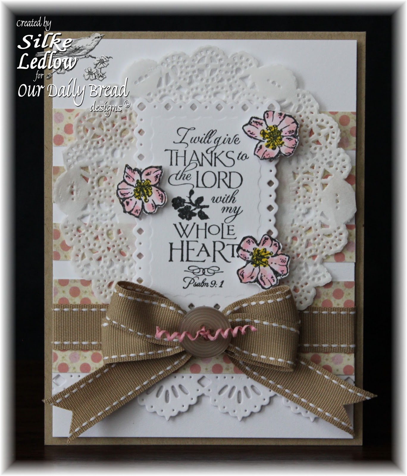 Stamps - Our Daily Bread Designs Cherry Blossom, ODBD Blushing Rose Paper Collection, ODBD Custom Beautiful Borders Die