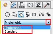 Opciones 'Standard' y 'Photometric'