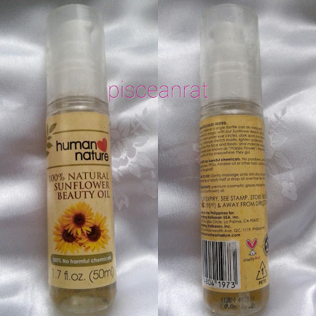 human nature sunflower oil purpose, how much, where to buy,