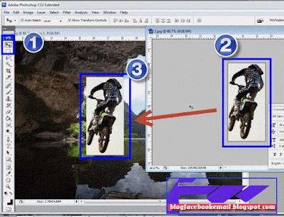 cara memasukkan gambar 1 ke dalam gambar 2