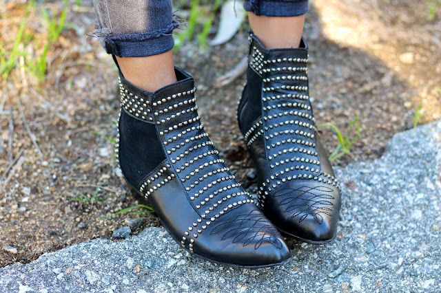 anine bing studded boots, anine bing boots
