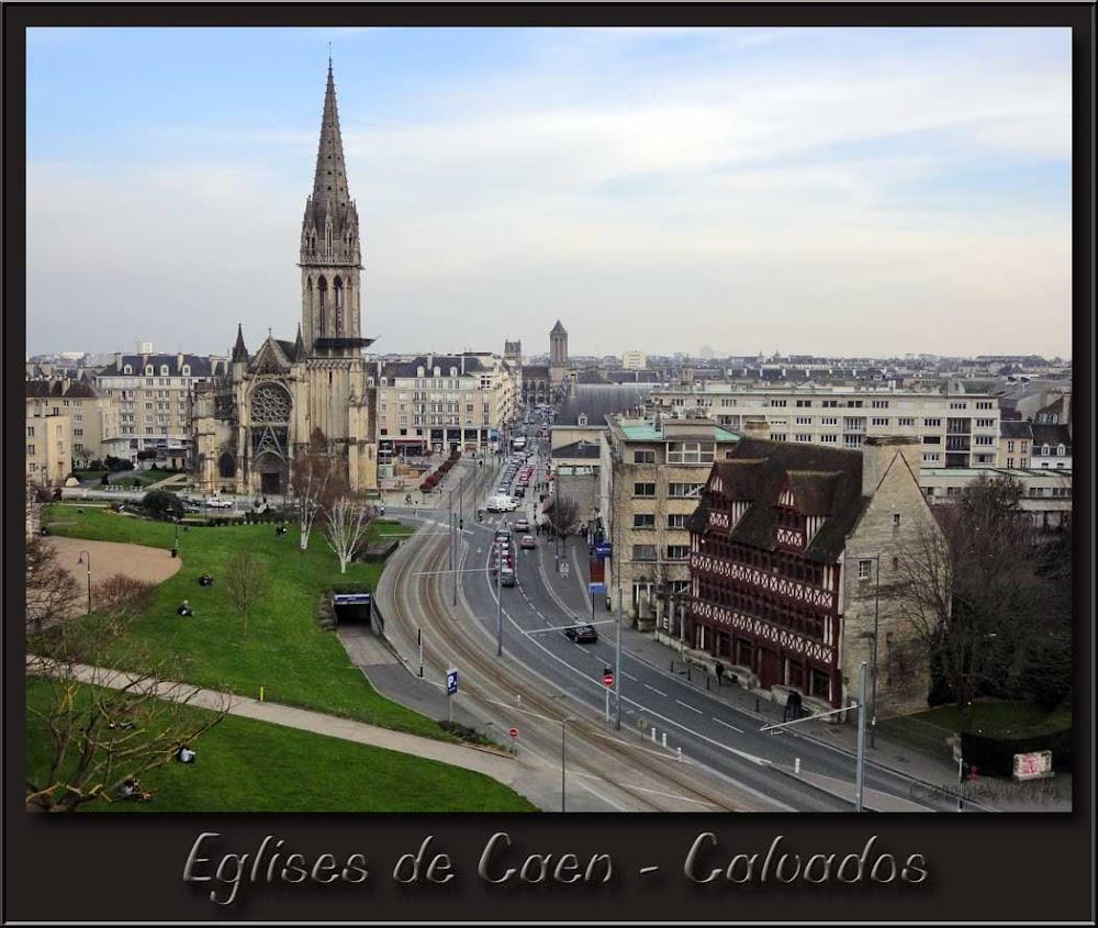 Eglises de Caen vues depuis le Château