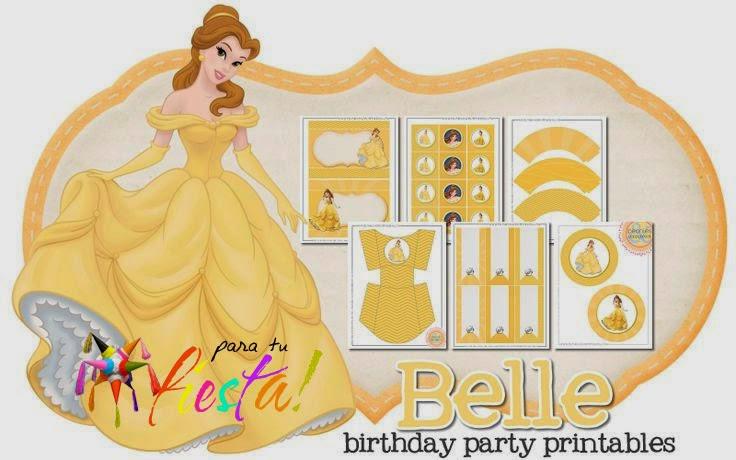 Imprimible Bella y la Bestia Gratis   Para Tus Fiestas