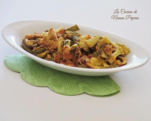 zucchine croccanti con farina di semola
