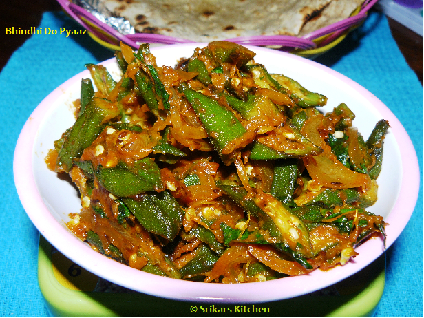 BHINDI DOPYAZ- OKRA WITH DOUBLE FRIED ONION
