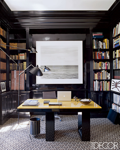 Small Home Office Ideas For Men And Women: The Peak Of Très Chic: Would You Lacquer?