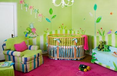 C mo pintar la habitaci n de los ni os dormitorios con - Tecnicas para pintar una habitacion ...