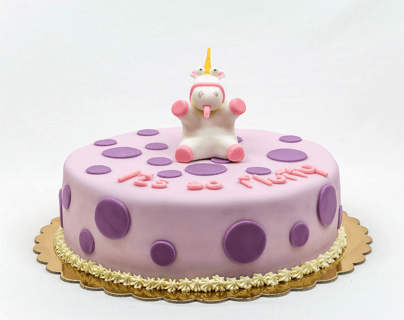Despicable me unicorn its so fluffy fondant cake nutella cake