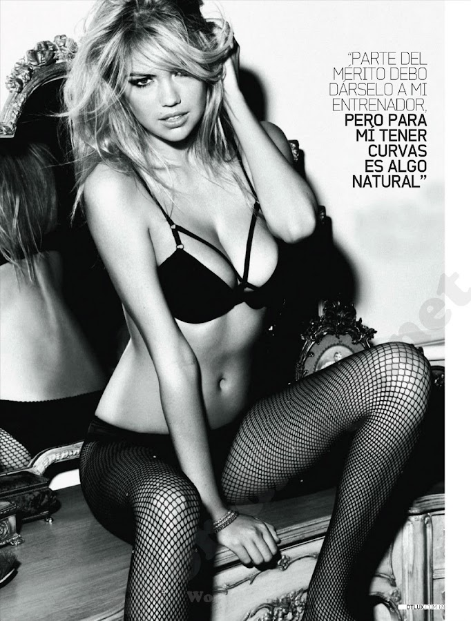 KATE UPTON looks sexy in lingerie, photo from DT Magazine May 2012, Spain Issue