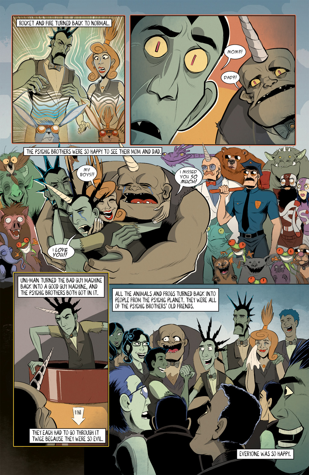 Read online Axe Cop: Bad Guy Earth comic -  Issue #3 - 17