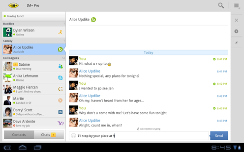 IM+ Pro Android Instant messenger | Full Version Pro Free Download