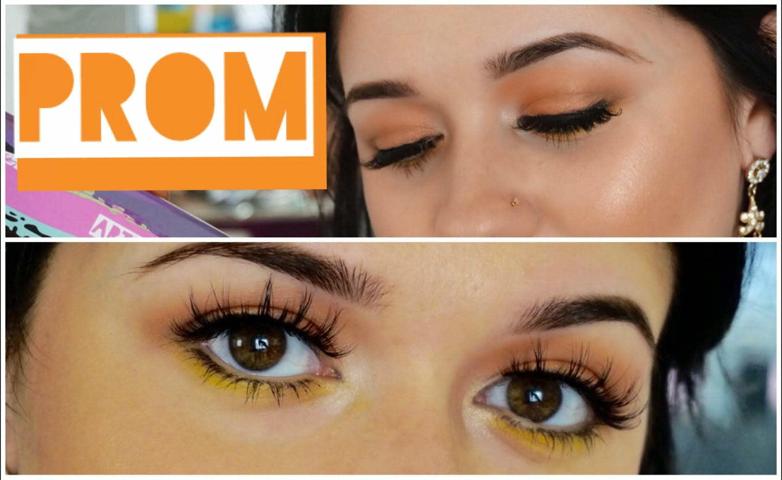 Orange and yellow makeup look, Makeup Tutorial, Nicole Gurriero