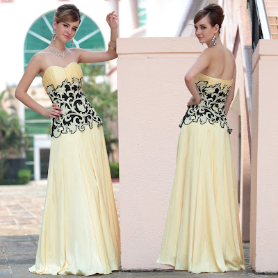Daffodil Sweetheart Floor Length Dress