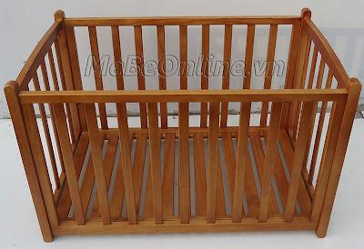 Nôi gỗ VinaNoi Vnn301M với tính năng làm cũi em bé.