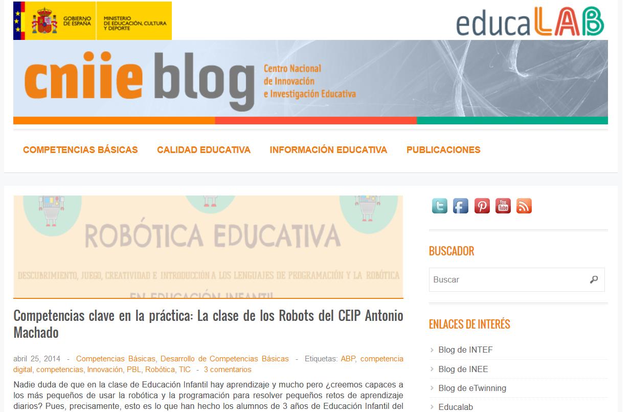 http://blog.educalab.es/cniie/2014/04/25/competencias-clave-en-la-practica-la-clase-de-los-robots-del-ceip-antonio-machado/
