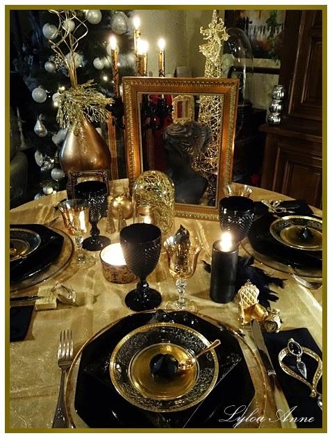 Lylou anne collection ma table saint sylvestre en or et - Deco table reveillon st sylvestre ...