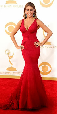 Sofia Vergara, 2013 Emmys, awards show, red carpet