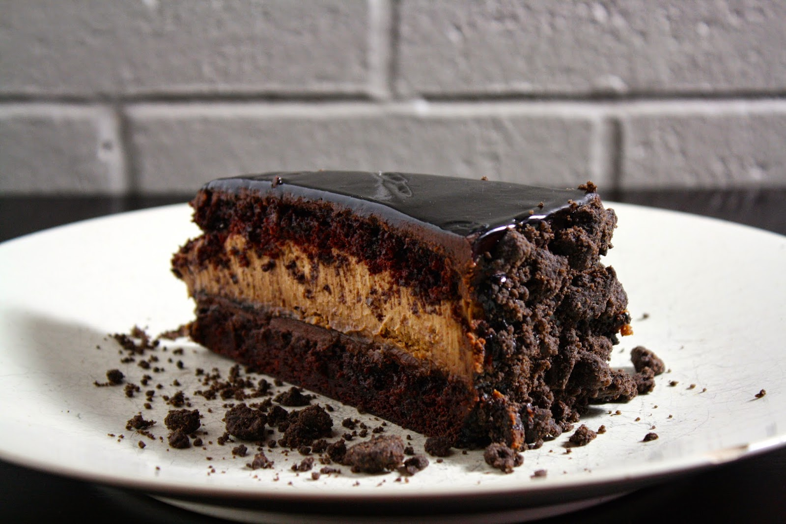 i wish baking was my real job: Rich Ass Chocolate Cake