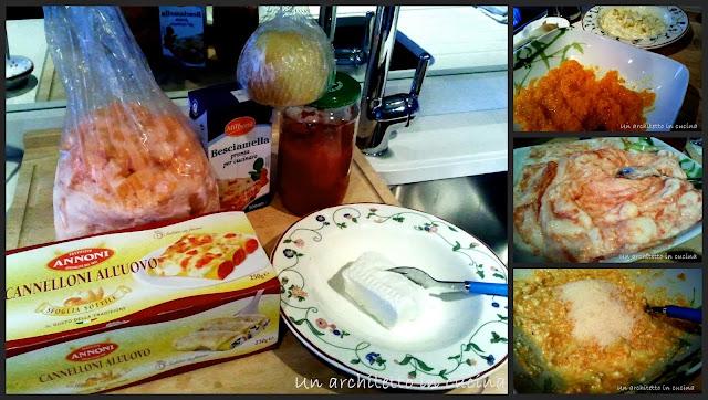 cannelloni vegetariani ripieni di zucca e scamorza affumicata