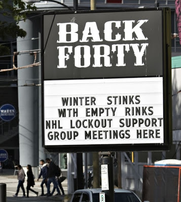 Winter stinks with Empty Rinks - NHL Lockout Support Group Meetings