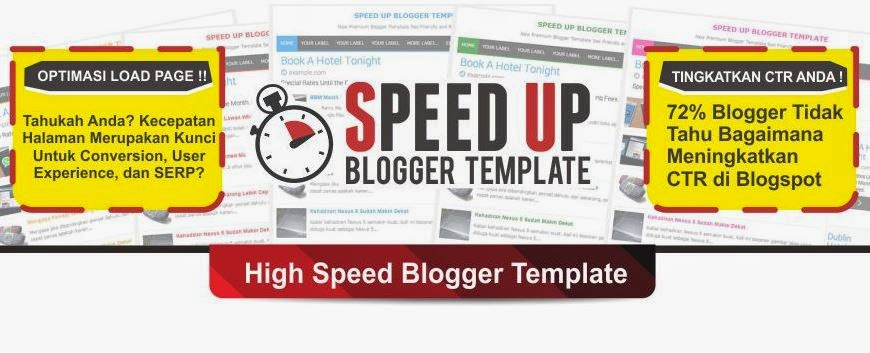 SpeedUp Blogger Template