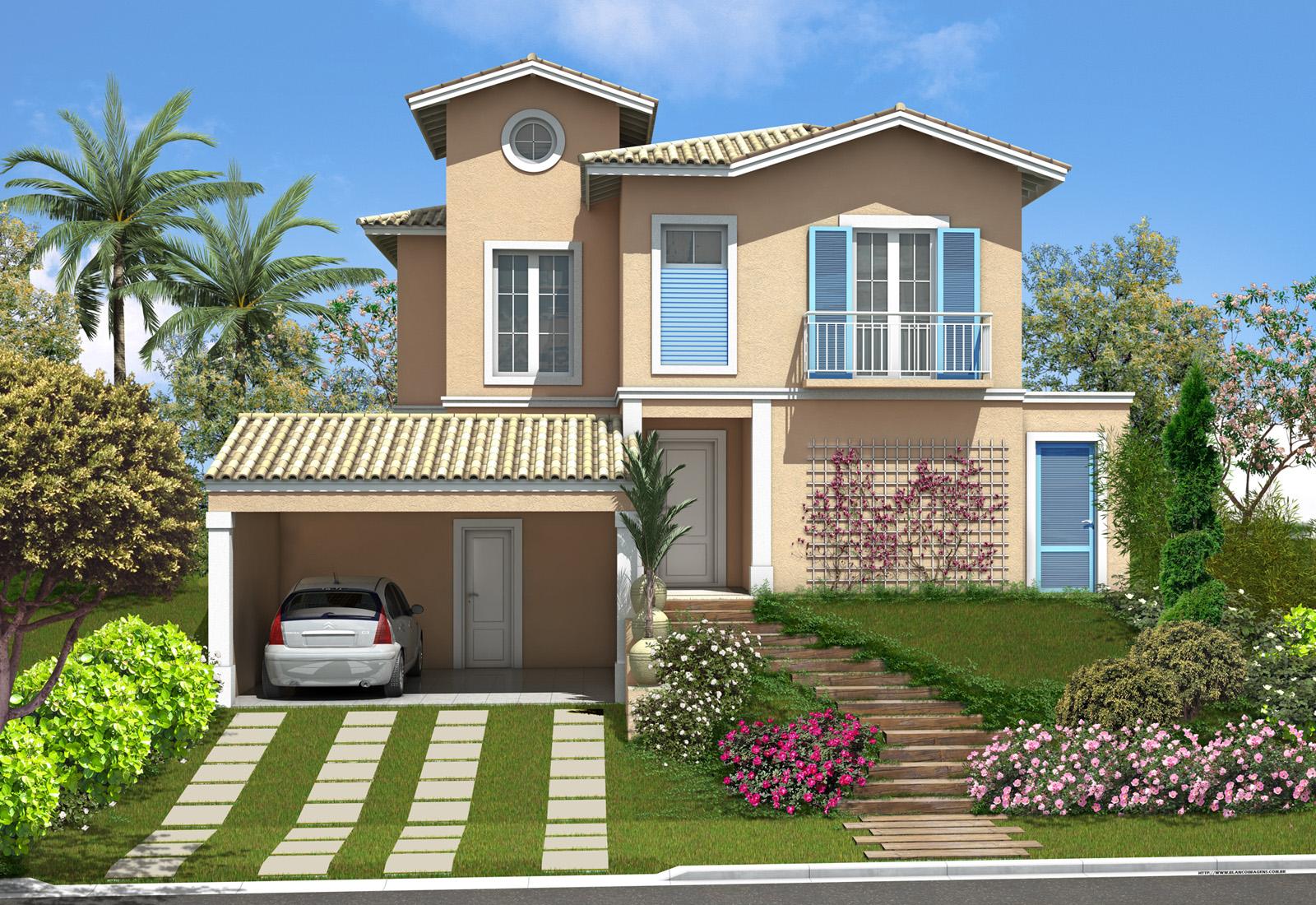 Casas muito bonitas coisas pra ver for Ver jardines de casas pequenas