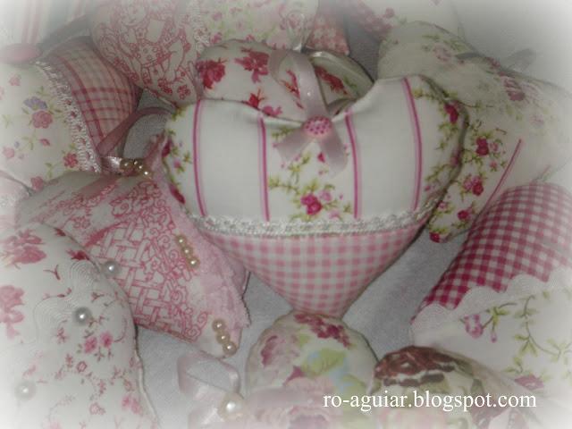 artesanato em patchwork - sachê coração