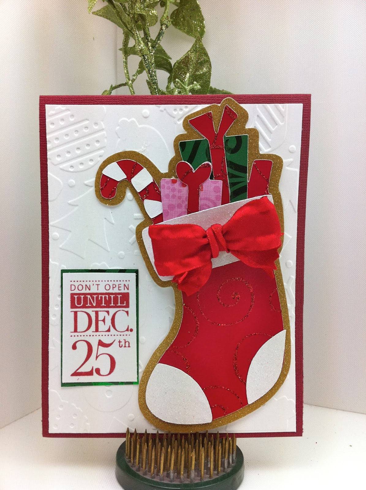 Obsessed With Scrapbooking Cricut Christmas Stocking Winter Frolics