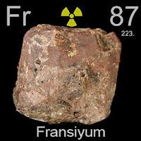 Fransiyum Elementi Simgesi Fr