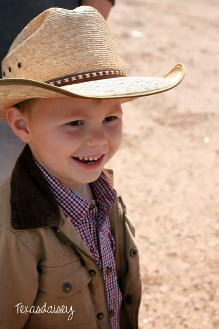 Cute Little Texas Cowboy Smile enjoys Republic of Texas Independence Day.
