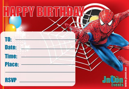 Spiderman Invitation Cards for luxury invitations layout