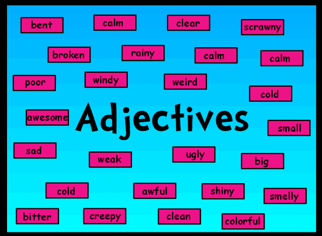Adjectives words word order an adjective