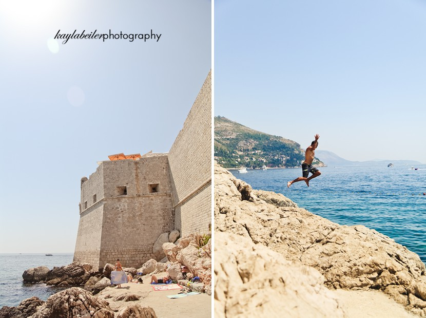 swimming in dubrovnik photo