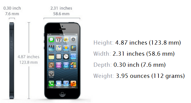 iphone 5 hardware specifications