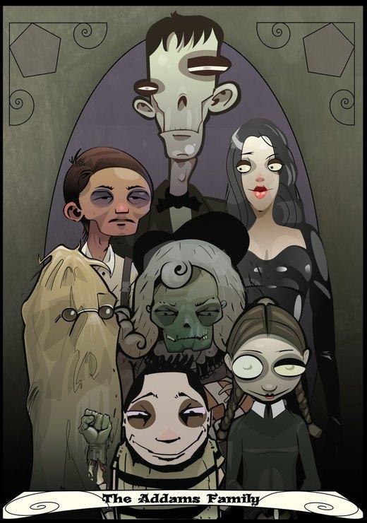 Addams Family por Paperbag-Ninja