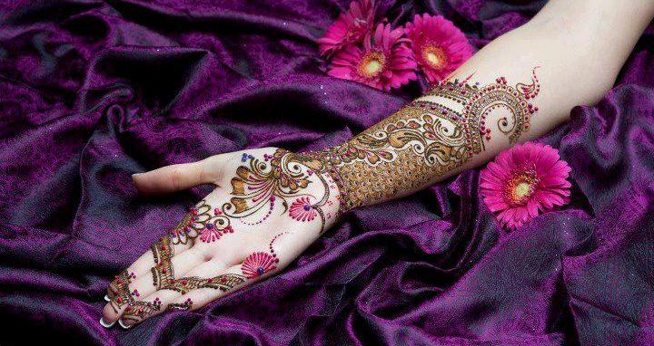Mehndi Hands With Watch : Share this article