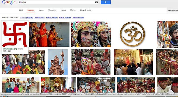 google search results for Hindus