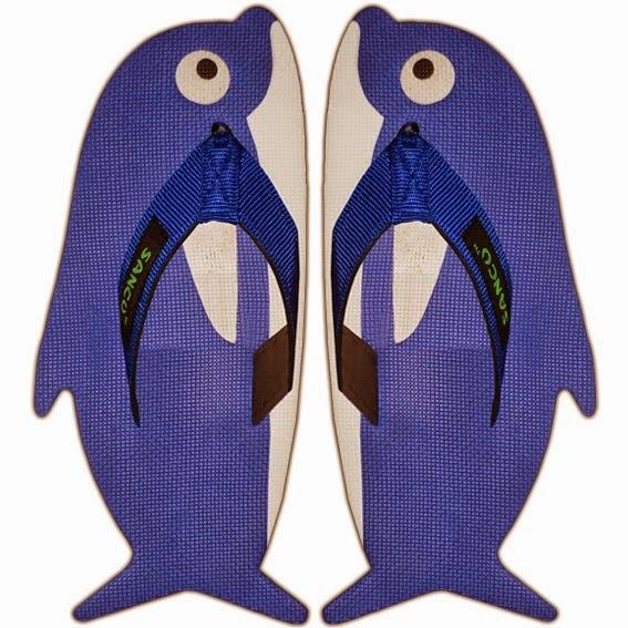 Motif Sandal Sancu dolphin