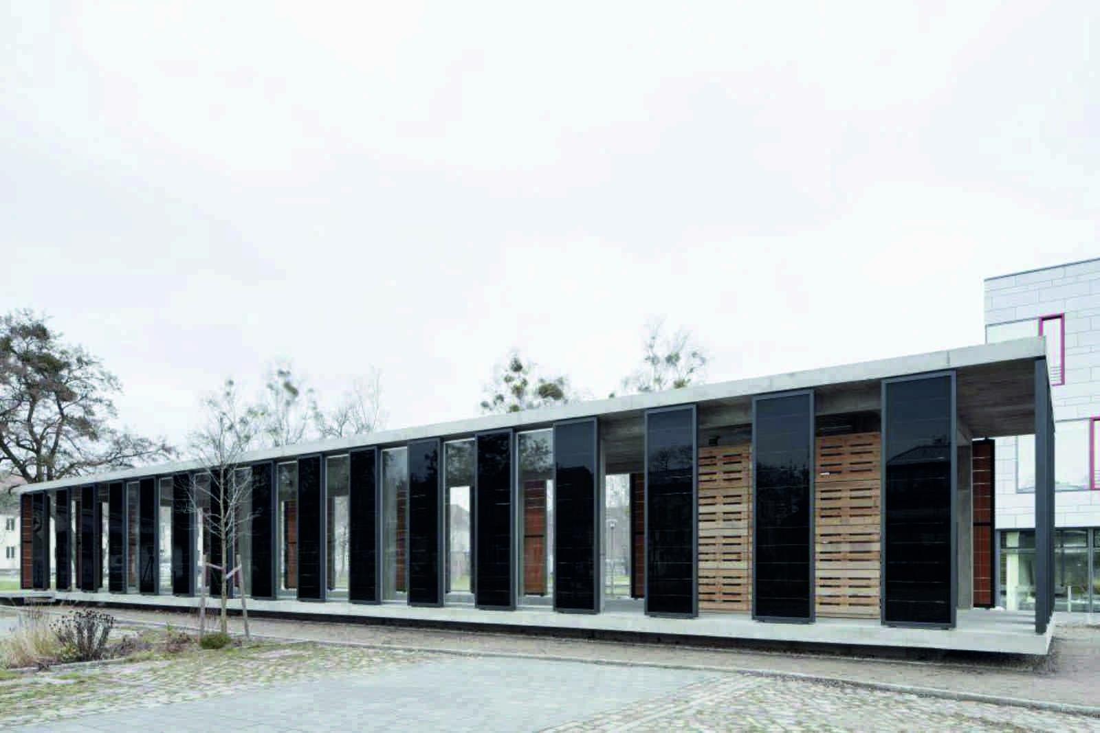 photovoltaic pavilion by ortner ortner baukunst a as architecture. Black Bedroom Furniture Sets. Home Design Ideas