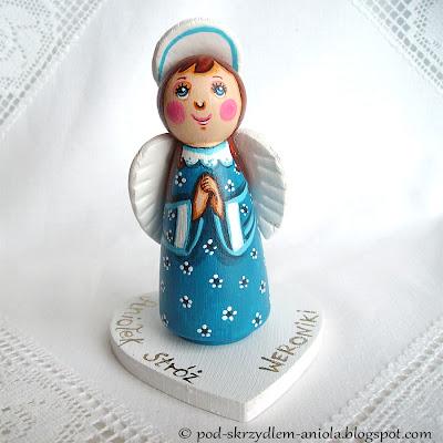 DIY tutorial kurs tworzenia drewnianej figurki malowanego aniołka bożonarodzeniowego